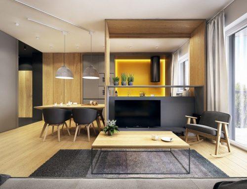 Интерьер однокомнатной квартиры — примеры шикарных дизайнов