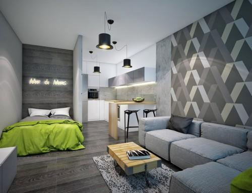 Сочетание серого цвета с другими цветами в современном дизайне интерьера