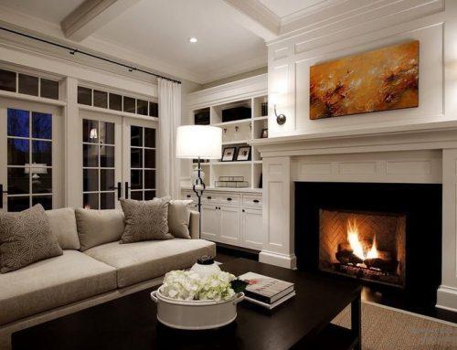 Камин в интерьере гостиной: 80 идей дизайна для зала и маленьких комнат