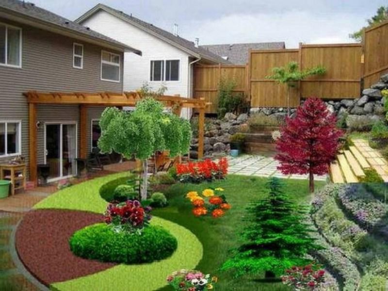 Красивый домашний сад