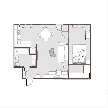 Дизайн две комнаты