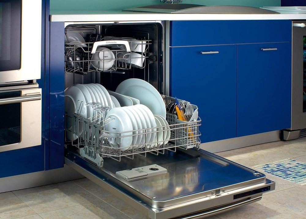 Расположение посудомоечной машины в дизайне