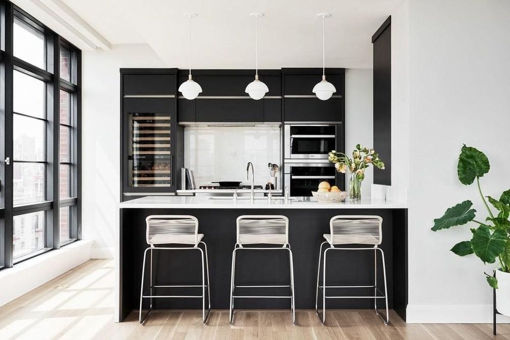 черно белая мебель