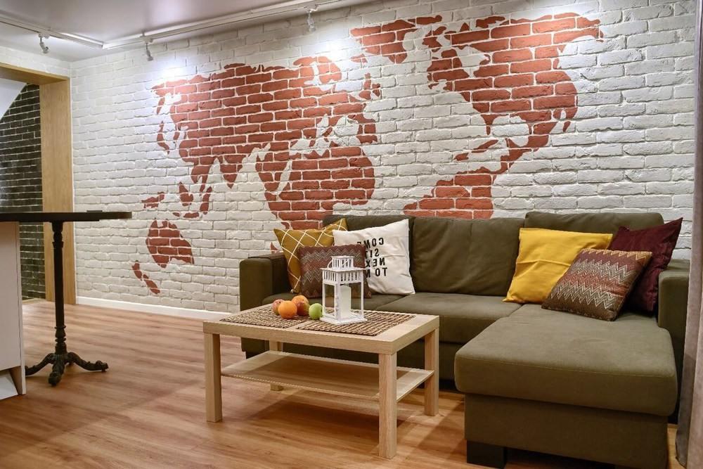 Карта мира нарисованная