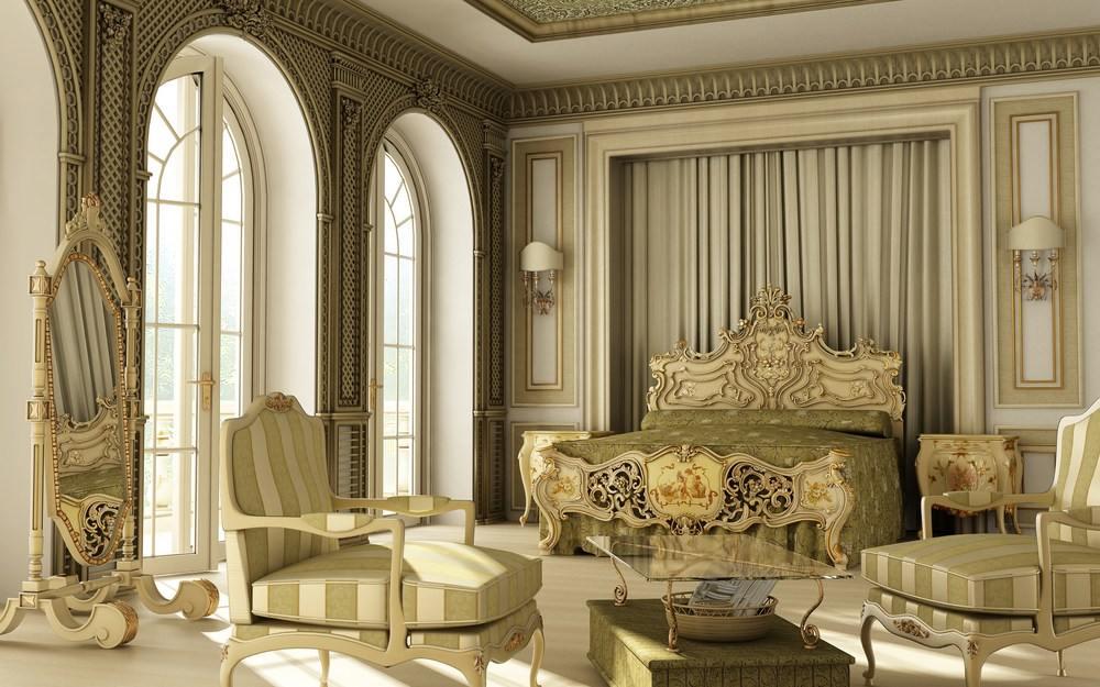 рококо в дизайне интерьера