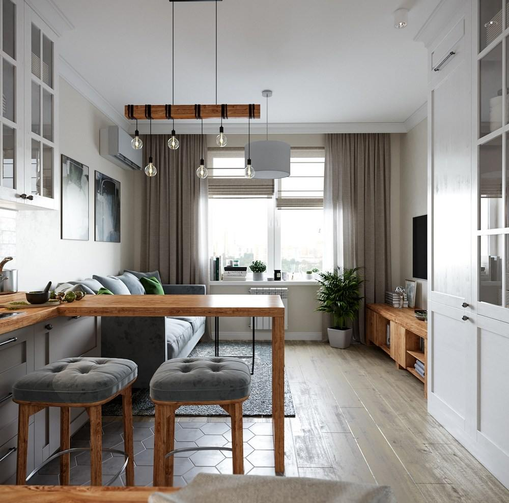Дизайнерские решения для совмещенной комнаты