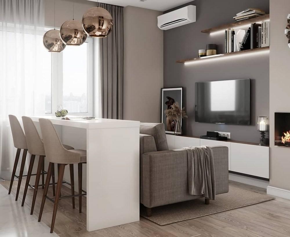 Интерьер в квартире с бежевыми оттенками