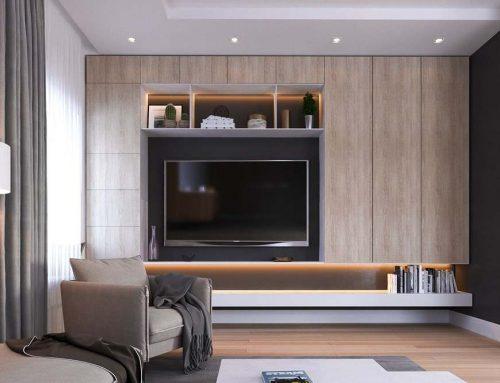 Дизайн стены с телевизором в гостиной и других комнатах