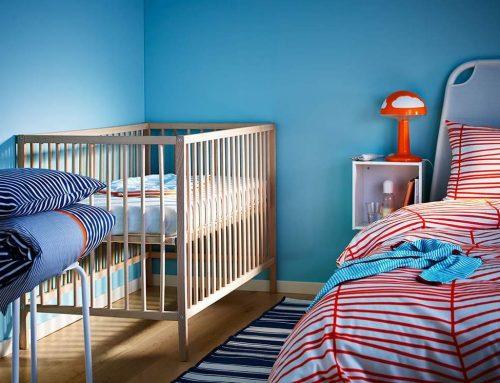 Интерьер спальни и детской в одной комнате