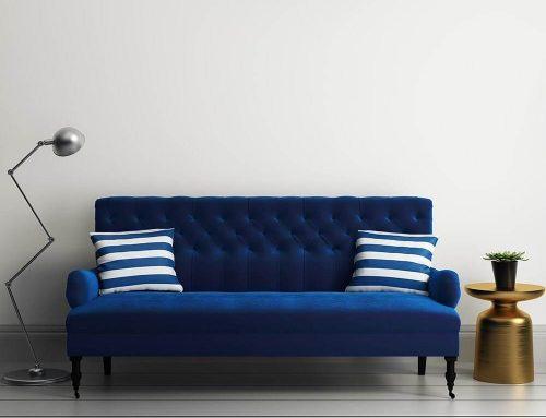 Синий диван в интерьере — как расположить софу в современной комнате