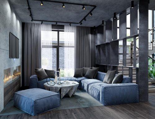 Гостиная в стиле лофт — 98 фото и полезные советы по оформлению зала