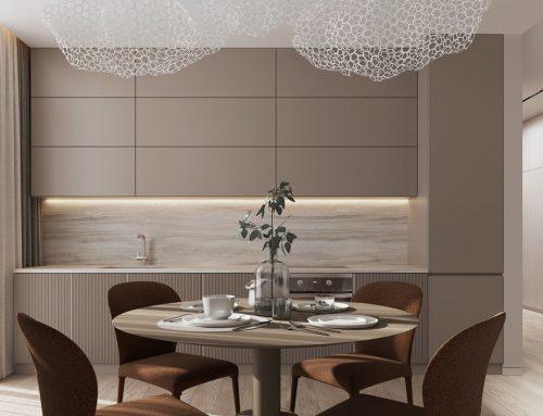 Дизайн кухни в бежевом цвете — 60 фото