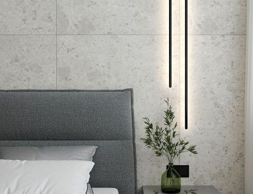 Интерьер спальни в серых тонах — 108 фото