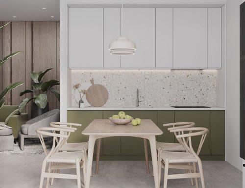 Дизайн кухни в светлых тонах — фото