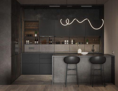 Интерьер черной кухни — 89 фото сочетаний цвета в дизайне