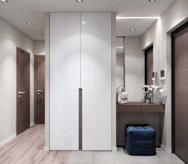 Стиль минимализм в коридоре