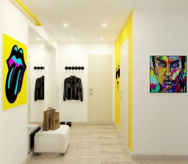 Поп арт в маленьком коридоре