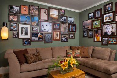 Галерейная стена в гостиной