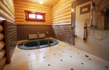 Дизайн душевой комнаты в бане