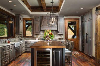 Деревенский интерьер в кухне