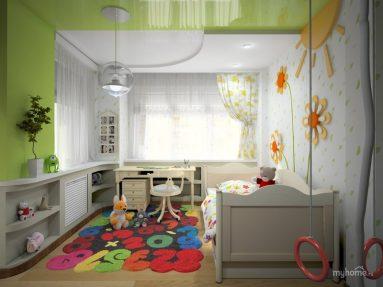 Комната 12 кв. м. для девочки подростка