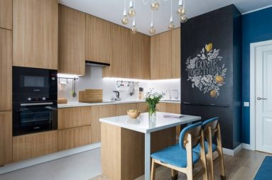 коричневая кухня в стиле модерн