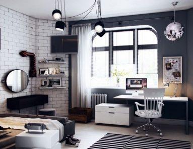 Интерьер комнаты для подростка в стиле хай – тек