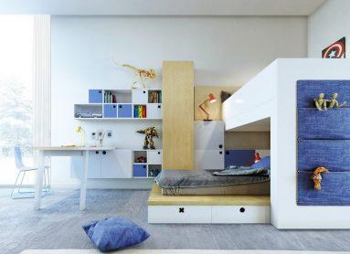 Стиль модерн в подростковой комнате