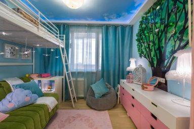 Дизайн комнаты 12 кв. м. для девочки
