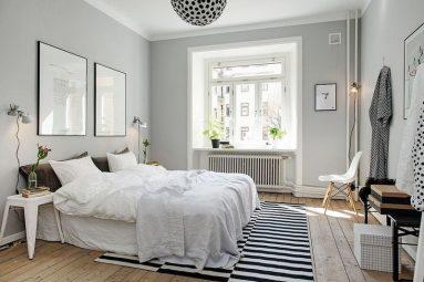 белый в дизайне спальни фото