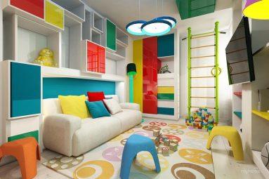 Дизайн комнаты для подростка в стиле авангард
