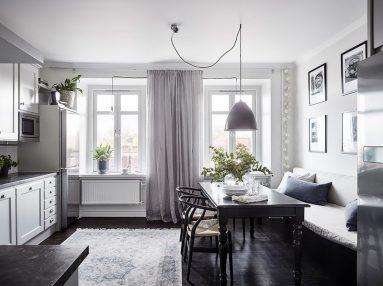 серого и белого в дизайне кухни