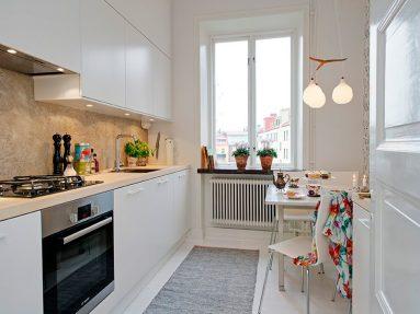 дизайн белой в скандинавском стиле