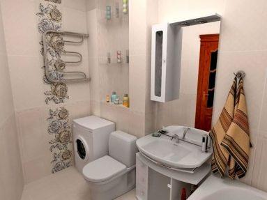 Интерьер ванной совмещенной с туалетом в хрущевке