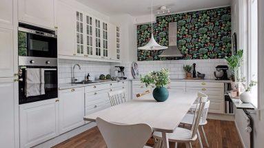 современный дизайн кухни в квартире без лишних предметов