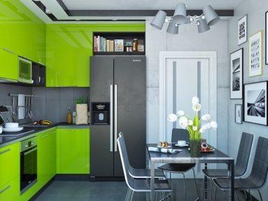 зеленый на кухне фото