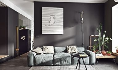 Темно – серый цвет в интерьере