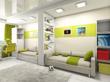 Дизайн комнаты для двоих подростков – зонирование