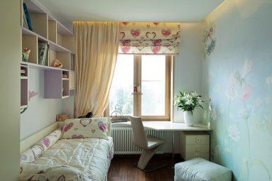 Интерьер комнаты 10 кв. м. для девочки