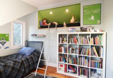 Дизайн комнаты для подростка, которому нравится читать
