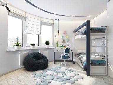 Интерьер комнаты для двоих подростков – двухъярусная кровать
