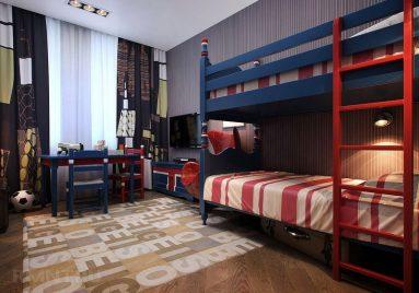 Интерьер комнаты для двоих подростков – двухэтажная кровать