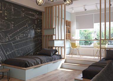 Интерьер комнаты для двоих подростков