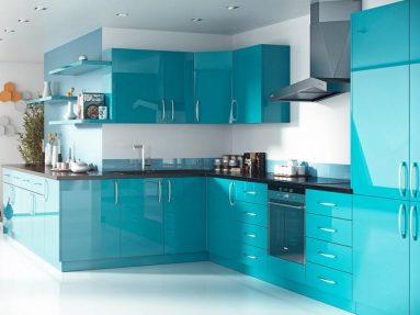 современный дизайн с синим и белым цветов