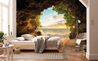 Фото спальни с красивыми фотообоями