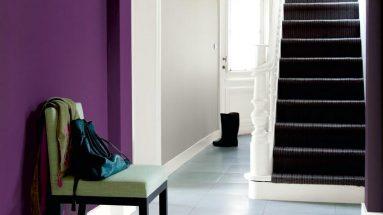 Фиолетовая краска в коридоре