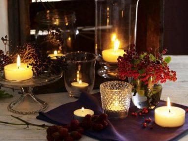 Красивое фото чайных свеч