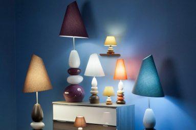 Лампа с камнями