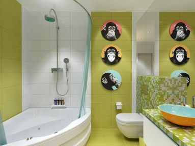 Зеленая стена в дизайне