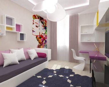 Интерьер комнаты 10 кв. м.